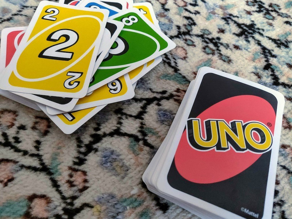 UNO deck and discard pile